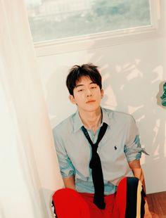 Nam Joo Hyuk for GQ Korea August Photographed by Mok Jung Wook Nam Joo Hyuk Tumblr, Nam Joo Hyuk Cute, Nam Joo Hyuk And Lee Sung Kyung, Korean Men, Asian Men, Asian Guys, Nam Joo Hyuk Photoshoot, Asian Actors, Korean Actors