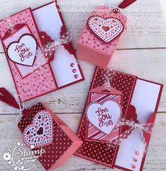 Valentines Day Cards Handmade, Valentines Day Treats, Valentine Day Crafts, Love Valentines, Tarjetas Stampin Up, Stampin Up Cards, Saint Valentin Diy, Valentines Bricolage, Karten Diy