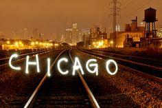 "Long Exposure Writing ""CHICAGO"""