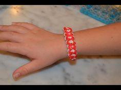 ▶ How to make a Rainbow Loom Double Heart Bracelet design - YouTube