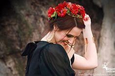 Sohemi_art / Sponka Italian charm Dark Red Roses, Italian Style, Flower Headbands, Charmed, Flowers, Handmade, Art, Fashion, Pink