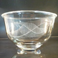 Orrefors Glas Vase Schale • early Edward Hald • signiert • Rarität!