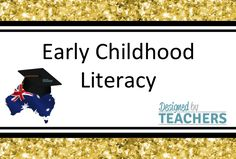 Designed By Teachers Dbt, Early Childhood, Teaching Resources, Literacy, Teacher, Templates, Education, Cover, Design