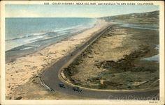 Coast Highway near Del Mar, Los Angeles to San Diego California