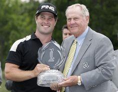 David Lingmerth, winner of the 2015 Memorial Tournament, with Jack Nickalus.   #golf #rockbottomgolf