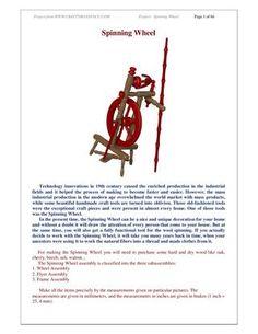 Spinning wheel plan  How to build spinning wheel - Free woodworking plan