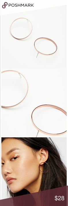 Free people basic baby front hoops Free people basic baby front hoops Free People Jewelry Earrings