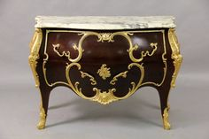 Late 19th century Louis XV style gilt bronze commode : Lot 25