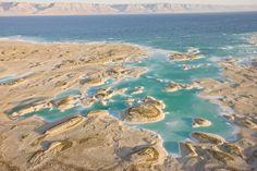 El perfil salado del Mar Muerto, a caballo entre Jordania e Israel