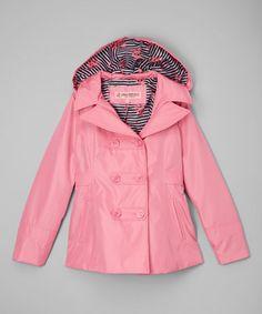 Love this Pink Lemonade Ruffle Hooded Rain Coat - Infant, Toddler & Girls on #zulily! #zulilyfinds