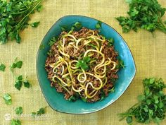 "Quick Beef Rag� with ""Zoodles"""