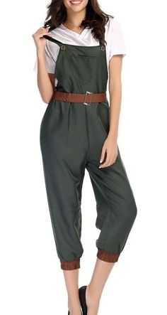 Amazon.com: Acediscoball Women's World War 2 Army Outfit Fancy Dress Costume Bib Overall: Clothing