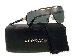 75343ac0422374 Amazon.com  Versace Sunglasses VE 2140 BLACK 1002 87 VE2140  Versace