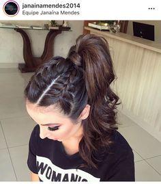 Ponytail Hairstyles, Pretty Hairstyles, Braided Hairstyles, Braids For Long Hair, Ponytail With Braid, Hair Ponytail, Hair Upstyles, Hair Dos, Balayage Hair