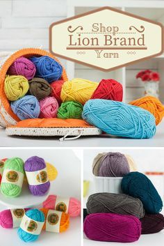 Make wonderful knitting creations with Lion Brand yarns. Use this premium yarn to add lustrous textures to your projects. Browse hundreds of different colors and weights on Craftsy today!