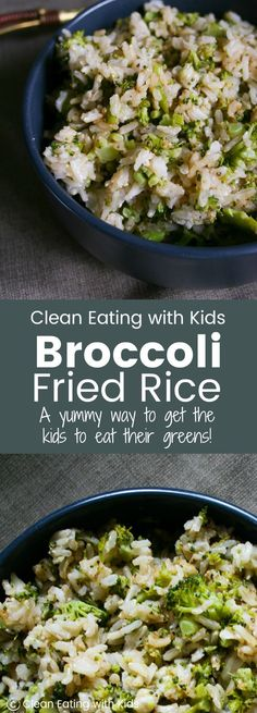 Super Tasty Broccoli Fried Rice Okay, You have to try this! Even my fussy kid ate a bowl full of this broccoli fried rice. Perfect with any meal or just on it's delicious own. Vegetable Recipes, Vegetarian Recipes, Healthy Recipes, Free Recipes, Broccoli Fried Rice, Broccoli Bites, Clean Eating Recipes, Healthy Eating, Healthy Food