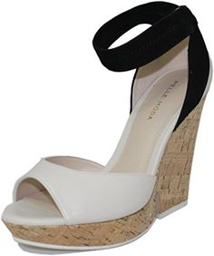 035db12da73 Pelle Moda Womens Una Platform Sandal WhiteBlack 6 M US    For more  information