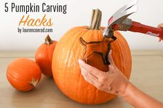 Pocus: 5 Pumpkin Carving Hacks Read on for 5 pumpkin carving hacks that are sure to make your Halloween extra spooky…Read on for 5 pumpkin carving hacks that are sure to make your Halloween extra spooky… Entree Halloween, Halloween Cans, Holidays Halloween, Halloween Pumpkins, Halloween Decorations, Halloween Stuff, Halloween Ideas, Halloween Party, Halloween Havoc