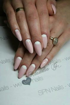 SPN UV LaQ 506 Rose French & 502 My wedding dress :)  Nails by Klaudia Gozdek, Beautica & SPN Team ❤