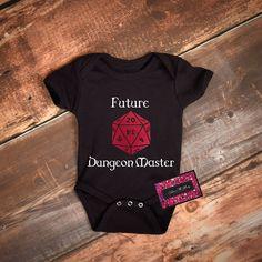 Glitter Baby Onesie Dungeons & Dragons Future Dungeon