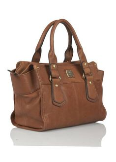 French Brown leather purse - Sac à main cuir WHISKY by MILA LOUISE