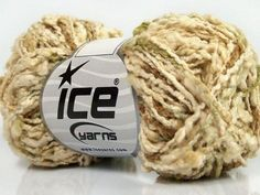 Seville Cotton Cream Green Brown Ice Yarns 40349 Green Cream, Green And Brown, Ice, Content, Yarns, Composition, Brown, Green, Cotton