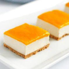Vegan Mango Cheesecake Bars Recipe | Well Vegan