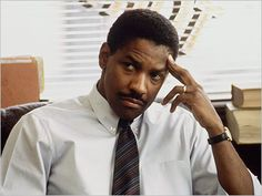 "Couselor Joseph Miller played by Denzel Washington in ""Philadelphia"" (1993)."