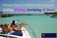 Private Puerto Vallarta Boat Rental: Sailing, Fishing, Snorkeling & More! Fishing Charters, Boat Rental, Puerto Vallarta, Cancun, Snorkeling, Vacation Spots, Sailing, How To Memorize Things, Mexico