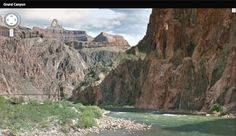 Google Maps adds 75 miles of Grand Canyon trails to it's database.  Check out the Bright Angel Trail up close and help yourself prepare for your trip! Bright Angel Trail, Grand Canyon, Maps, Hiking, Street View, Tours, Check, Google, Walks