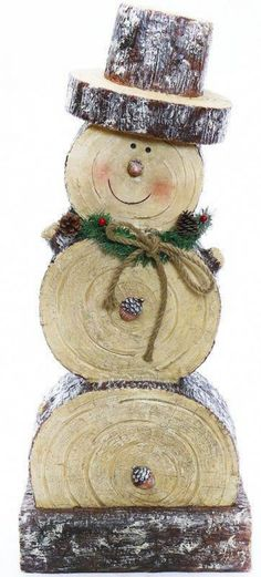 "Snowman Statue - make mini with slices from "". - Weihnachten Holz Wooden Snowman Statue - make mini with slices from "". - Weihnachten Holz - Wooden Snowman Statue - make mini with slices from "". Wooden Christmas Crafts, Outdoor Christmas Decorations, Rustic Christmas, Christmas Projects, Holiday Crafts, Christmas Diy, Christmas Ornaments, Snow Men Crafts, Primitive Christmas"