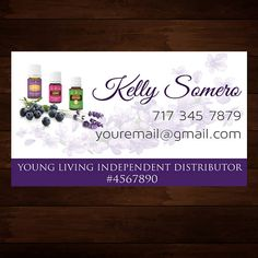 water young living business card essential by CustomOilyDesigns