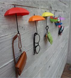 3pcs/lot Wall stickable Umbrella hook Colorful Wall Sticker Creative fashion Wall Decoration for wall fridge furniture tile -in Wall Stickers from Home & Garden on Aliexpress.com | Alibaba Group