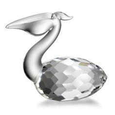 Godinger crystal Pelican bird figurine ornament