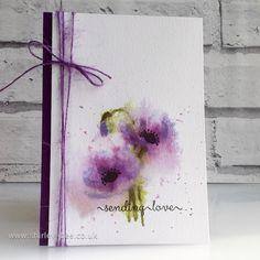 shirley-bee's stamping stuff: Purple Poppies