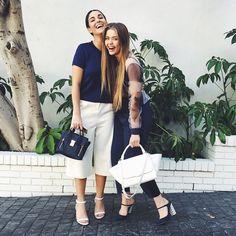 Fiona Zanetti y Kristina Bazan, pantalones culotte