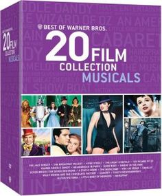 Best of Warner Bros 20 Musicals - The Jazz Singer, The Broadway Melody of 1929, 42nd Street, The Great Ziegfeld, The Wizard of Oz, Yankee Doodle Dandy, An American in Paris, Show Boat, Singin' in the Rain, Seven Brides for Seven Brothers, A Star Is Born, The Music Man, Viva Las Vegas, Camelot, Willy Wonka and the Chocolate Factory, Cabaret, That's Entertainment!, Victor/Victoria, Little Shop of Horrors, Hairspray