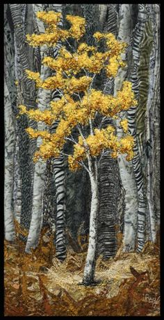 My Works - Available Abstract Works - Lorraine Roy: Textile Art Collage Landscape, Landscape Art Quilts, Art Textile, Textile Artists, Tree Quilt, Quilt Art, Thread Painting, Pictures To Paint, Tree Art