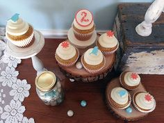 Birds and Flowers Cupcake Topper Set (24) by SweetTalkCakes on Etsy
