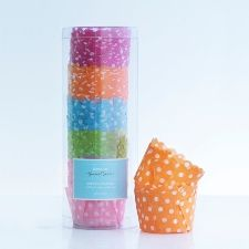 scalloped edge cupcake papers - 5 colour -- $12.95