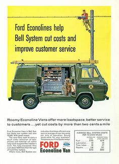Here's a look back at the Ford Econoline from its origins in the early to today, as it prepares to make way for Ford's new Transit global van. Read the full Ford Econoline Timeline from the truck and SUV experts at Truck Trend. New Trucks, Custom Trucks, Ford Trucks, Pickup Trucks, Truck Drivers, Ford Classic Cars, Classic Chevy Trucks, Chevy Classic, Classic Auto