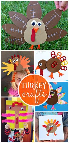 Artistic Turkey Crafts for Kids to Create #Thanksgiving crafts for kids!