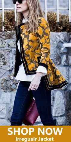 Autumn and winter fashion printing irregular jacket, you will find the best one for you, free shipping on order $79+, shop now! #women #jackets #winter #fashion #irregular Winter Outfits Women, Fall Outfits, Cute Fashion, Fashion Outfits, Womens Fashion, Coats For Women, Clothes For Women, Paris Outfits, Fall Jackets