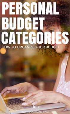 Easily track your expenses using this list of personal budget categories to organize your budget like a pro. Budget | Personal Finance | Tips | Track  via @thebudgetmom