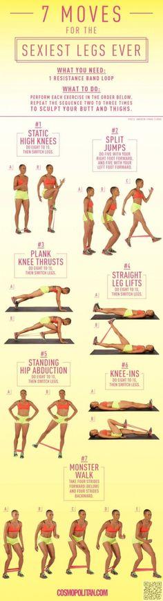 19. sexy #jambes - 19 meilleur #exercice infographie pour #votre corps #parfait... → #Fitness