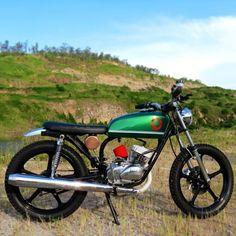 motomood: Kawasaki KH100 The Pickle by AD&RM Custom Co  motomood:  Kawasaki KH100 The Pickle by AD&RM Custom Co