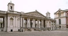 The Royal Naval Hospital    Colonnade, viewed from the courtyard of the King William's Block, Royal Naval Hospital, Greenwich. 1698 onwards, by Christopher Wren and others