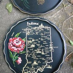 Use these antique plates to brush up on your state flowers. | 25 Awesome Ways To Show Off Your State Pride