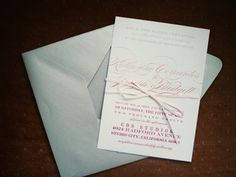 a blog by shannon labare: Katie + Joseph - Ombre Sparkle Wedding Invitations