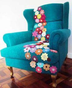 Flower power arm chair